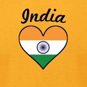 India Flag Heart - Men's T-Shirt by American Apparel