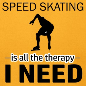 Speed skating is my therapy - Men's T-Shirt by American Apparel