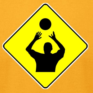 Volleyball Player Crossing Sign - Men's T-Shirt by American Apparel