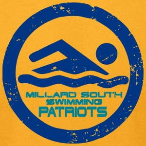 MILLARD SOUTH SWIMMING PATRIOTS - Men's T-Shirt by American Apparel