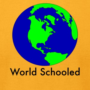 World Schooled - Men's T-Shirt by American Apparel