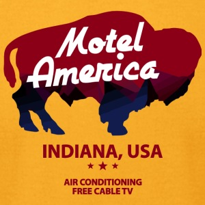 New America Motel - Men's T-Shirt by American Apparel