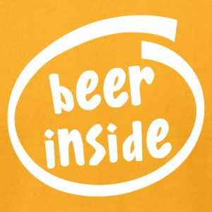 beer inside (1819B) - Men's T-Shirt by American Apparel