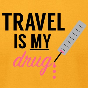 Travel Is My Drug! - Men's T-Shirt by American Apparel