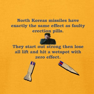 North Koreas Dongless Missile - Men's T-Shirt by American Apparel
