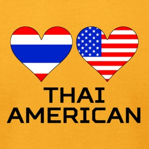 Thai American Hearts - Men's T-Shirt by American Apparel