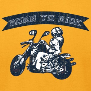 BURN_TO_RIDE_2 - Men's T-Shirt by American Apparel