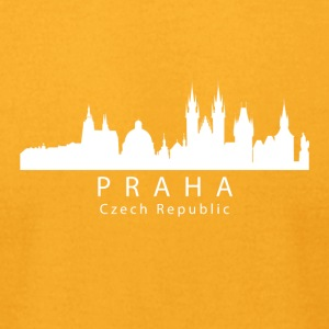 Praha Prague Czech Republic Skyline - Men's T-Shirt by American Apparel