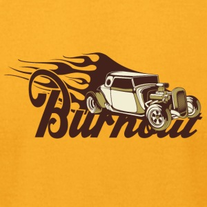 Burnout vintage car - Men's T-Shirt by American Apparel