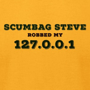 Steve robbing homes. - Men's T-Shirt by American Apparel