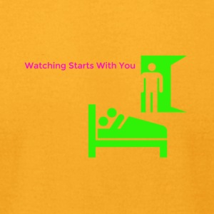 watching starts with you - Men's T-Shirt by American Apparel