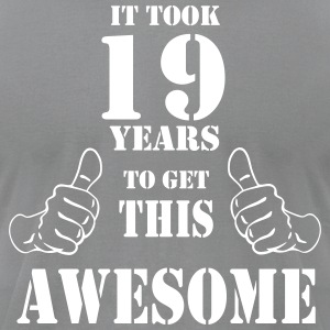 19th Birthday Get Awesome T Shirt Made in 1998 - Men's T-Shirt by American Apparel