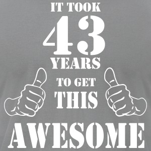 43rd Birthday Get Awesome T Shirt Made in 1974 - Men's T-Shirt by American Apparel