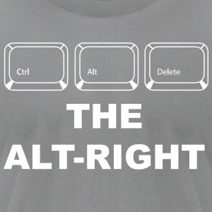 Ctrl Alt Delete The Alt Right - Men's T-Shirt by American Apparel
