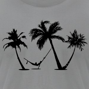 Palm trees Beach - Men's T-Shirt by American Apparel