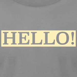 hello! - Men's T-Shirt by American Apparel