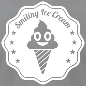Smiling Ice Cream Batch - Men's T-Shirt by American Apparel