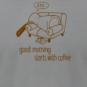 Morning coffee - Men's T-Shirt by American Apparel