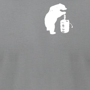 Bear and Beer Keg - Men's T-Shirt by American Apparel