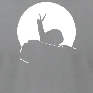 Howling Snail - Men's T-Shirt by American Apparel