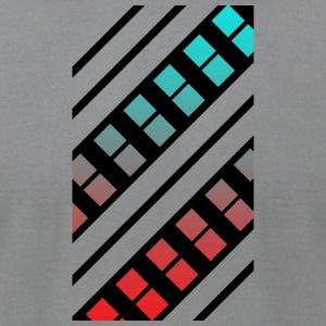 Blue and Red Pattern - Men's T-Shirt by American Apparel