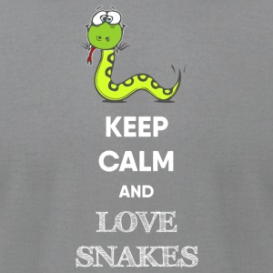 KEEP CALM AND LOVE SNAKES - Men's T-Shirt by American Apparel