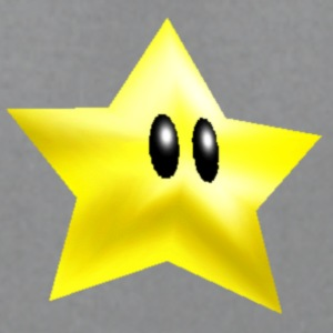 star from super mario brothers - Men's T-Shirt by American Apparel