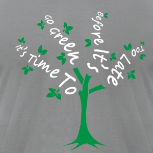 Green Tree - Men's T-Shirt by American Apparel