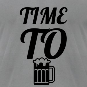 Time To Drink - Men's T-Shirt by American Apparel