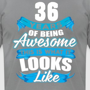 36 Years Of Being Awesome Looks Like - Men's T-Shirt by American Apparel