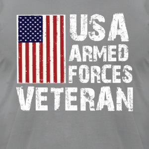 USA Armed Forces Veteran T-Shirt - Men's T-Shirt by American Apparel