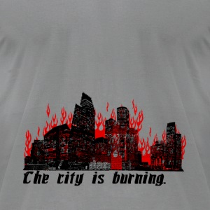 The City is Burning - Men's T-Shirt by American Apparel