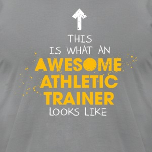 Awesome Athletic Trainer Looks Like - Men's T-Shirt by American Apparel