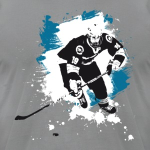 icehockey hockey puck player team sport ice LOL fu - Men's T-Shirt by American Apparel