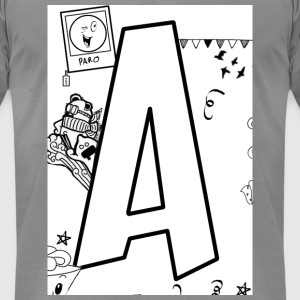 Alphabet A - Men's T-Shirt by American Apparel