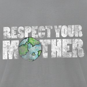 Respect your mother earth vintage earth day - Men's T-Shirt by American Apparel