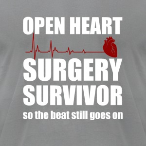 openheart surgery survivor - Men's T-Shirt by American Apparel