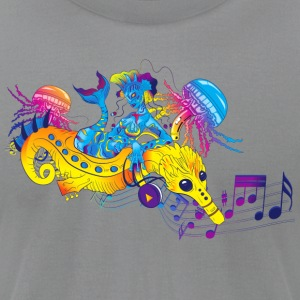 Psychedelic Music Mermaid - Men's T-Shirt by American Apparel