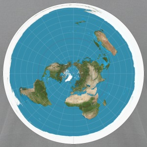 Flat Earth - Men's T-Shirt by American Apparel