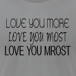 Love you. - Men's T-Shirt by American Apparel