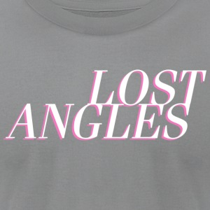 Lost Angles Vaporwave Label - Men's T-Shirt by American Apparel