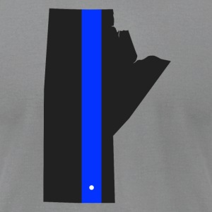 Thin Blue Line - Manitoba - Men's T-Shirt by American Apparel