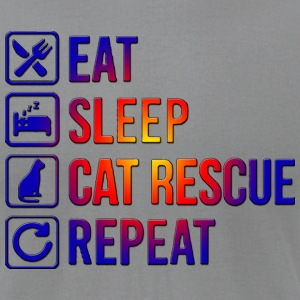 EAT SLEEP CAT RESCUE REPEAT - Men's T-Shirt by American Apparel
