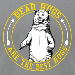 Bear Hugs Are The Best Hugs - Men's T-Shirt by American Apparel
