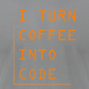 Programmer Gift-Turn coffee into code-Shirt,Hoodie - Men's T-Shirt by American Apparel