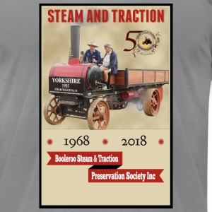 Booleroo Steam & Traction - Men's T-Shirt by American Apparel