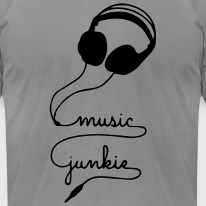 MUSIC JUNKIE - Men's T-Shirt by American Apparel