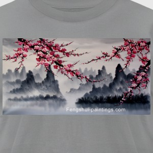 cherry-blossom-painting - Men's T-Shirt by American Apparel