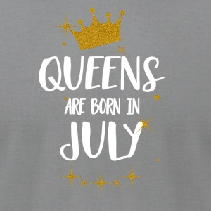 QUEENS ARE BORN IN JULY - Men's T-Shirt by American Apparel