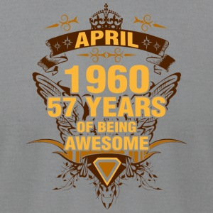 April 1960 57 Years of Being Awesome - Men's T-Shirt by American Apparel